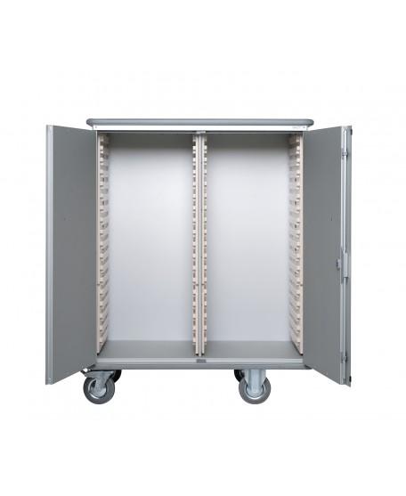 ARMOIRE DE TRANSFERT ALUMINIUM 600 X 400 - CAPACITE 2 x 18 MODULES