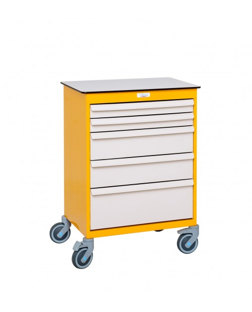 MOBILE WORKSTATION WITH DRAWERS 1 COLUMN 9 LEVELS EQUIPPED