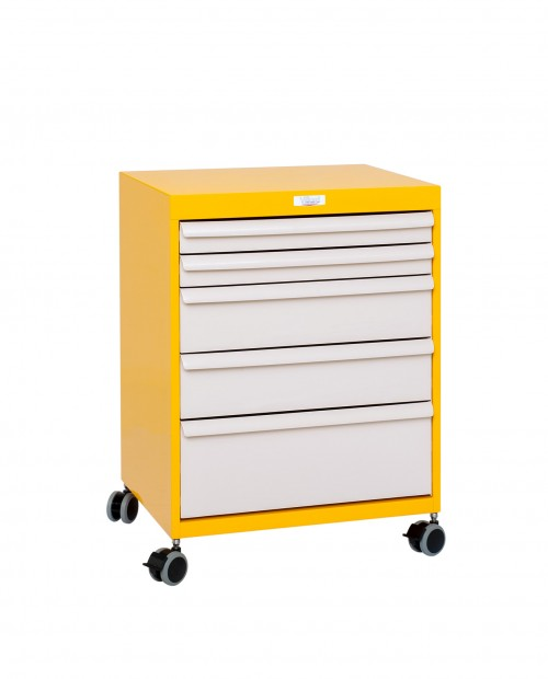 MOBILE DRAWERS BLOC 9 LEVELS - WHELLS Ø75 - W600 - EQUIPPED