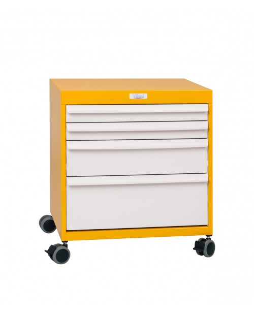 MOBILE DRAWERS BLOC 7 LEVELS - WHEELS Ø75 - W600 - EQUIPPED