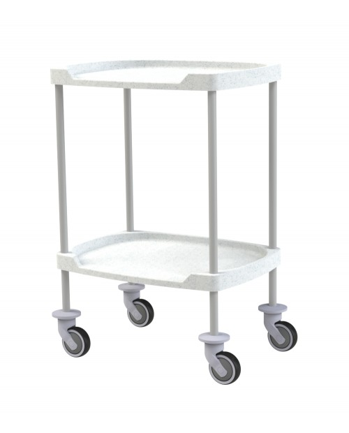 TROLLEY WITH COMPOSITE SHELVES