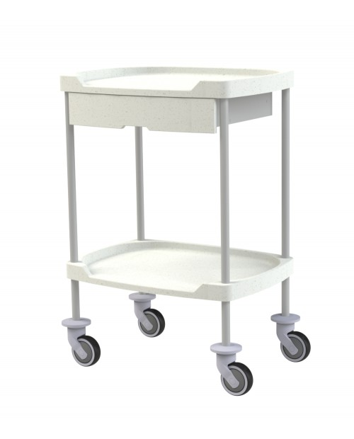 TROLLEY WITH COMPOSITE SHELVES AND DRAWER
