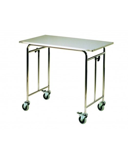 STAINLESS STEEL BRIDGE TABLE 100 X60 CM