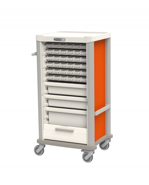 MEDICATION CART FOR DAILY DISTRIBUTION - 36 PATIENTS