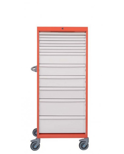ARMOIRE SIMPLE A TIROIRS - 18 MODULES - LARGEUR 600 - EQUIPE