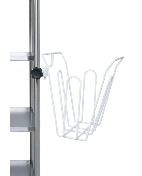 White epoxy steel bag holder