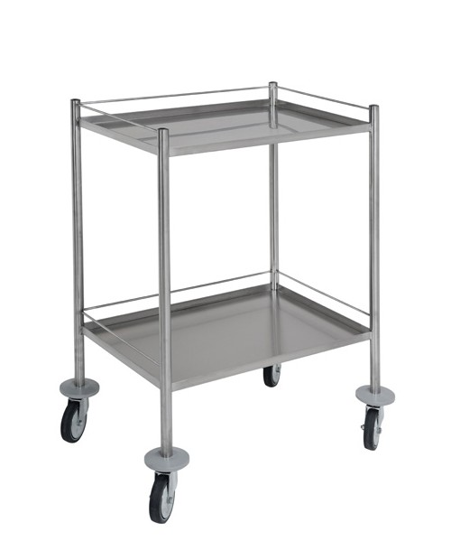 Stainless steel guard rail 3 sides for trolley 60x40 cm