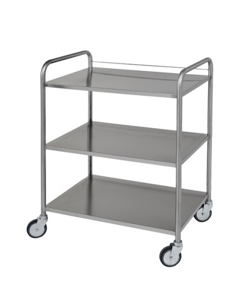 Stainless steel guard rail 1 side for trolley