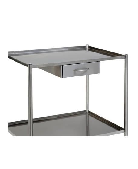 bloc tiroir inox sur glissi re pour gu ridon villard. Black Bedroom Furniture Sets. Home Design Ideas