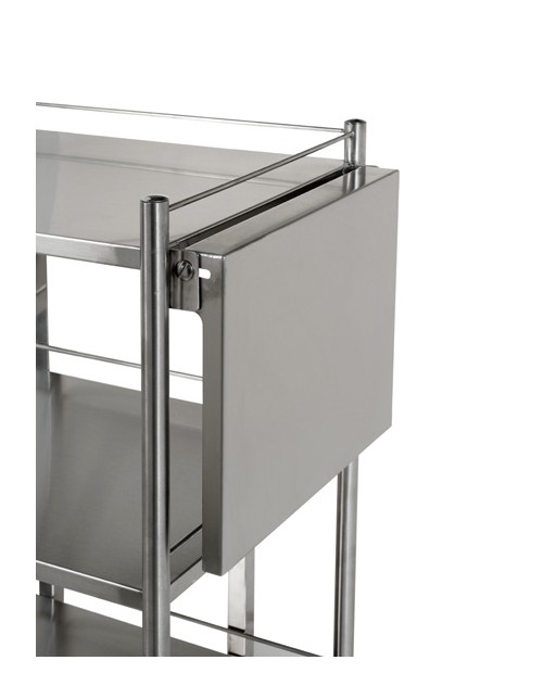 Stainless steel fold-away flap for trolley