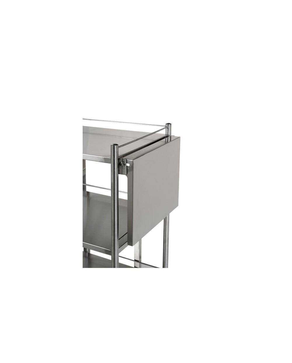 tablette rabattable pour gu ridon inox villard. Black Bedroom Furniture Sets. Home Design Ideas