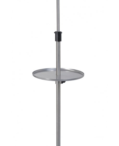 Round stainless steel tray for IV pole  - Villard