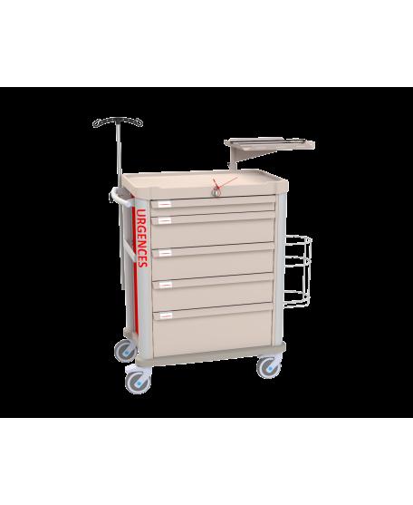 Chariot d'urgence modulaire Eolis® - 600x400 - Vue de face