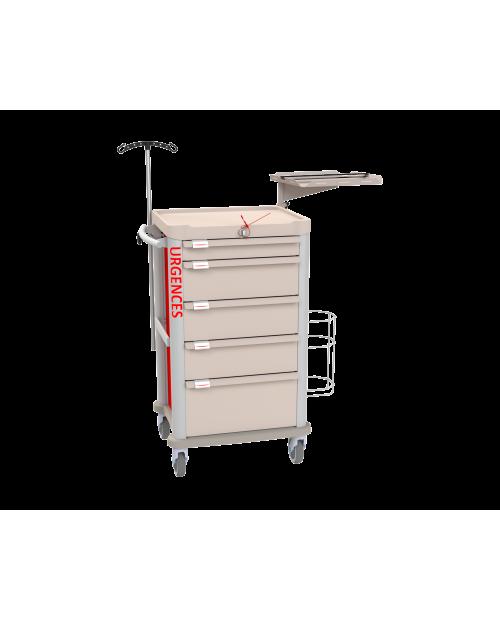 Chariot d'urgence modulaire Eolis® - COMPACT - Vue de face