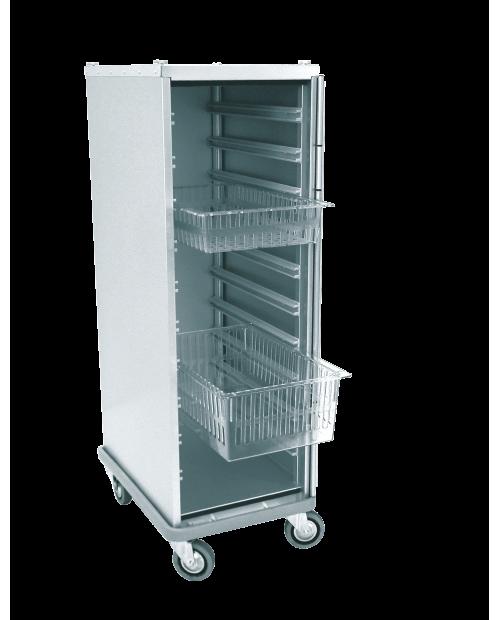 Armoires de transfert aluminium - Format  ISO - Profondeur 600 mm - 1 colonne