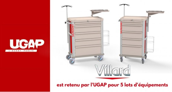 The Central Purchasing Office UGAP has selected VILLARD MEDICAL for 5 batches of equipment