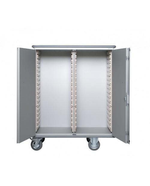 ALUMINIUM TRANSFER CABINET 600 X 400 ( 2 X 18 MODULES)