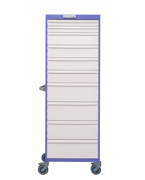 SINGLE DRAWER CABINET - 22 LEVELS - WIDTH 600 - EQUIPPED