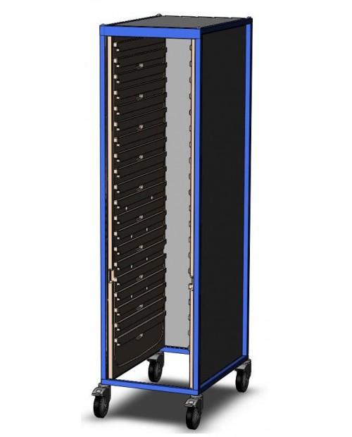 ARMOIRES DE STOCKAGE MOBILES EOLIS® - Simple Avec volet roulant et serrure à clé